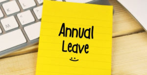 Annual Leave note